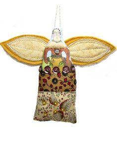 Small folk art angel ornament