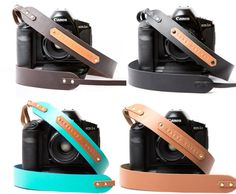 Personalized Leather Camera Strap - HolyCool.net