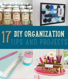 Organizing DIY! 17 DIY Organization Tips and Projects to Start Your Year | http://diyready.com/diy-organizing-projects-organization-tips/