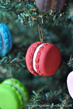 How to make Polymer Clay French Macaron Ornaments