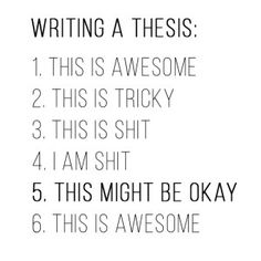 How to Write a Thesis in One Month