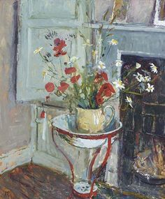 ❀ Blooming Brushwork ❀ - garden and still life flower paintings - Poppies, Margaret Thomas. English, born in 1916.