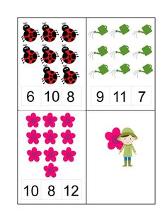 Spring Activities for Kids Counting Activities For Preschoolers, Spring Activities, Math Exercises, Phonics Books, Kindergarten Math, Games For Kids, Classroom, Literacy Activities, Early Education
