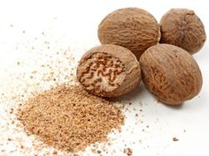 One of the best natural sleep aids. Freshly grated Nutmeg when taken in warm milk (1/8 tsp in a glass) before bed calms the nerves, lowers blood pressure for sound sleep.   Also effective for digestive upset, nausea, vomiting, diarrhea and dysentery, Nutmeg with peeled, stewed apple for diarrhea, for babies - a pinch with mashed banana or warm milk.