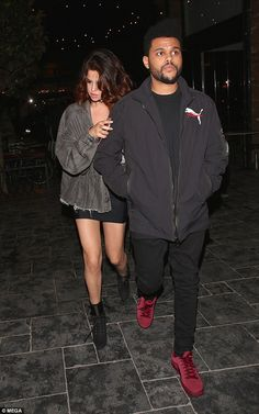 Selena Gomez and The Weeknd spend the night together at her LA home #dailymail