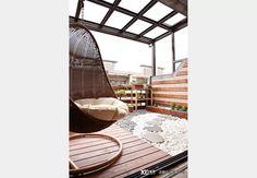 別墅│傳世御苑_鄉村風設計個案—100裝潢網 Balcony Design, Design Case, Outdoor Furniture, Outdoor Decor, Home Decor, Decoration Home, Room Decor, Home Interior Design, Backyard Furniture