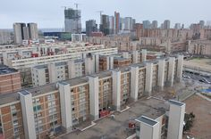 La Mina (St. Adrià) one of the city's most deprived areas, next to the private district Diagonal Mar, built in the 2000s by Texan developers Hines