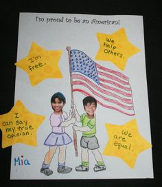 Proud To Be An American Writing Prompt - 5 pages. This prompt fits well at the beginning of the year when you're teaching your students the Pledge of Allegiance, or looking for an activity for Constitution Day. It also works for any of the other Patriotic Holidays through out the year.