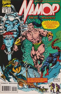 Namor the Sub-Mariner Series) July 1994 Grade NM Comic Book Covers, Comic Books, Comic Art Fans, Marvel Comics Superheroes, Marvel Art, Sub Mariner, Comic Villains, Comic Book Collection, Disney Marvel
