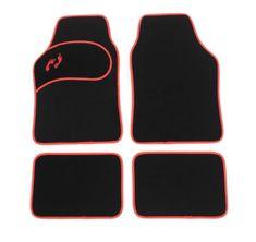 Κaver πατάκια αυτοκινήτου σετ 4τμχ υφασμα Μαύρο/Κόκκινο ρέλι BGFM3 Auto Accessories, Car Accessories