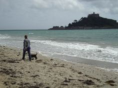 A walk with the pup at Marazion, Cornwall, with St Michael's Mount in the background. St Michael's Mount, The Beautiful South, Devon And Cornwall, Pup, Beach, Water, Outdoor, Gripe Water, Outdoors