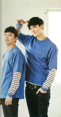 Jongup and Zelo. The second youngest compared to THE youngest...haha, go Zelo!