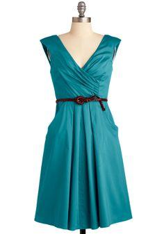 Teal party dress with pockets Turquoise Dress, Purple Dress, Green Dress, Dress Skirt, Wrap Dress, Dress Up, Dress Boots, Belted Dress, Flare Dress