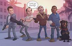 gta v concept art Grand Theft Auto 4, Grand Theft Auto Series, Video Game Logic, Video Game Art, Clash Royale, Patrick Brown, Fallout New Vegas, Fallout 3, Saints Row