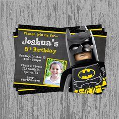 Lego Batman Birthday Invitation Digital by LastingMomentsDesign, $10.99