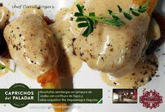 Pues para empezar bien el año te traemos otra delicatessen realizada por el Chef Dave Rogers, en el Rte. Depatanegra Degusta de La Oratova en Santa Cruz de Tenerife: ALCACHOFAS SEMILARGAS NATURALES CON TEMPURA DE VOZKA, CONFITURA DE HIGO Y SALSA ROQUEFORT ¿ TIENE BUENA PINTA ? ¿ EHHH ?