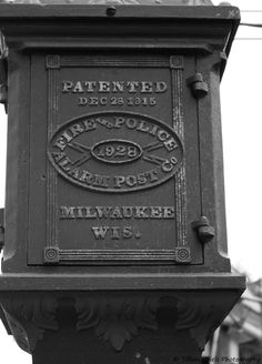 """Historic Police Phone - Milwaukee"" - A favorite photo, taken by me."