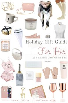 As much as I love going to the stores to shop for gifts, sometimes this mama ain't got time! Which is why you may see most (if not all) of my holiday shopping taking place on Amazon. I try searching for super cute items with the best deals which is how I came up with these adorable gifts that are each under $25! Um… sign me up!