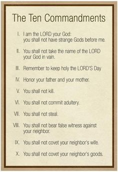It is a picture of Obsessed Catholic Ten Commandments Printable