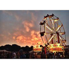 Lovely sunset over Lovebox Festival