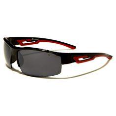 Oxigen Mens Semi-Rimless Wrap Glasses Black and Red with Smoke Lens Red Sunglasses, Lens, Smoke, Black, Women, Fashion, Moda, Black People, Fashion Styles