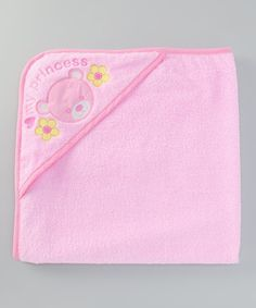 Take a look at this Pink 'My Princess' Hooded Towel by Mon Cheri Baby on #zulily today!