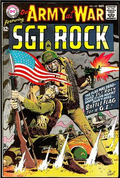sgt rock covers silver age   Our Army at War #185