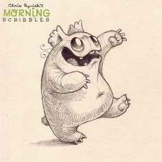 Ready or not, somebody is coming in for a hug… #morningscribbles