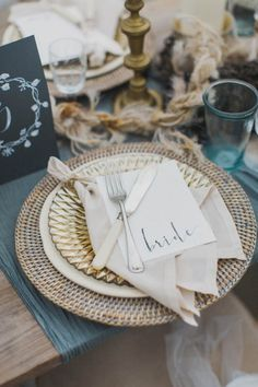 Gorgeous blue and gold table decor | Photography by Paula O'Hara with styling by Grace & Saviour