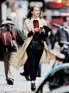 #emmastone #streetstyle... - Emma Stone Style