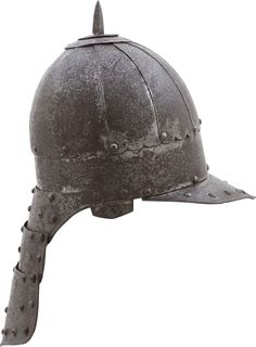 """This helmet is from a group of which examples only rarely are encountered. It is made for hussar service employing subtle variations from the typical """"North European"""" lobster tail. The skull is made o"""