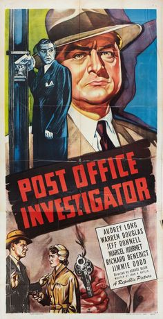 Best Film Posters : Post Office Investigator (1949) | Film Noir of the Week