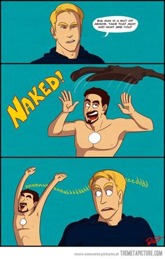 STARK naked. Pretty sure I've pinned this many times before but the joke never gets old!