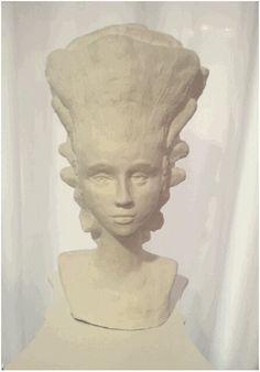 Barock Rokoko Frisur Skulptur