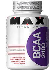 BCAA 2400 200 cáps - Max Titanium - Natural