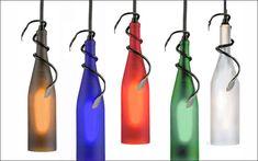 | 40 ideas para decorar con lámparas botella