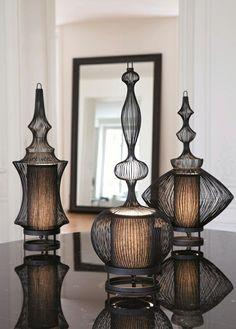 Superbes lampes à poser à l'influence orientale élégante