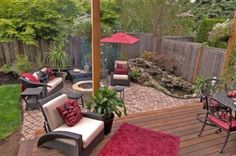 Build a cozy and warm place in your backyard or patio by diy fire pit. You will need nothing more than bricks, stone pavers or some other . This is also one of the most convenient outdoor fire pit ideas to have up your . Small Backyard Landscaping, Fire Pit Backyard, Backyard Ideas, Backyard Waterfalls, Outdoor Kitchen Design, Patio Design, Exterior Design, Garden Design, Outdoor Fire