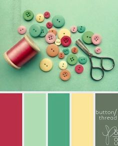 nursery colors: seafoam mint/turquoise, coral pink, sunny yellow