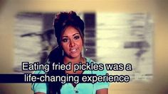 It's true. I never knew how much I love fried pickles until I saw Yankee Snooki try them and love them! Now I'm hooked...