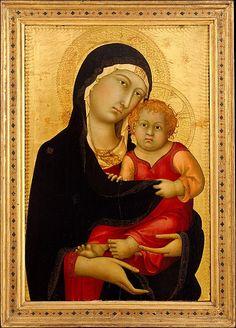 Madonna and Child // ca. 1326 // Simone Martini // Mary & Jesus