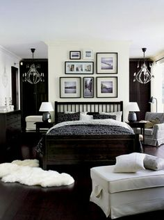 ikea bedroom. Like the use of black and white to keep the room fun but masculine