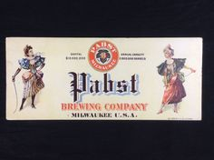 Pabst Blue Ribbon Blotter Card PBR Pre-Prohibition Early RARE!!