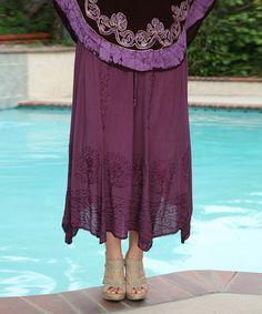 Look at this #zulilyfind! Purple Embroidered Handkerchief Skirt - Plus by Ananda's Collection #zulilyfinds