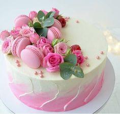 Birthday Cupcakes For Women, Pretty Birthday Cakes, Pretty Cakes, Cute Cakes, Beautiful Cakes, Amazing Cakes, Cake Birthday, Birthday Cake Decorating, Cake Decorating Tips