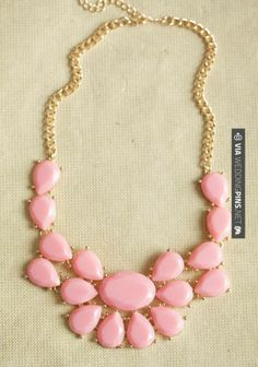So good! - Bubblegum Jeweled Necklace | CHECK OUT MORE GREAT PINK WEDDING IDEAS AT WEDDINGPINS.NET | #weddings #wedding #pink #pinkwedding #thecolorpink #events #forweddings #ilovepink #purple #fire #bright #hot #love #romance #valentines #pinky