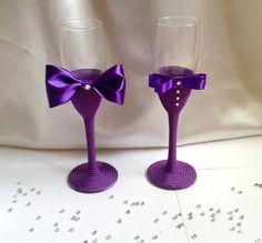 Wedding glasses by nandarani on Etsy