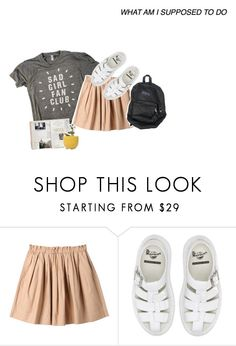 """""""WE LOVE ALL THE SAME SONGS"""" by oisauce ❤ liked on Polyvore featuring Uniqlo, Dr. Martens and Dot & Bo"""