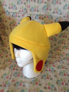 Items similar to Pikachu from Pokemon Inspired Fleece Hat Handmade on Etsy Pokemon Hat, Pokemon Gifts, Magikarp Hat, Pikachu Ears, Fleece Hat Pattern, Fleece Hats, Fleece Blankets, Pokemon Birthday, Animal Hats