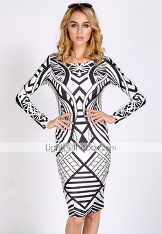 Women's Print Bodycom Dress - USD $ 14.99